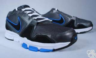 NIKE Air Flex Trainer Dark Grey / Blue Cross Training Mens Shoes New