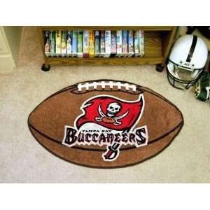 Tampa Bay Bucs Buccaneers Football Shaped Area Rug Welcome