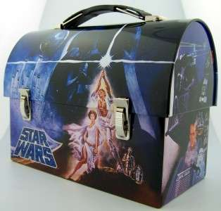New Star Wars Luke Leia Lunchbox Tin Kids Meal Pail Collectable