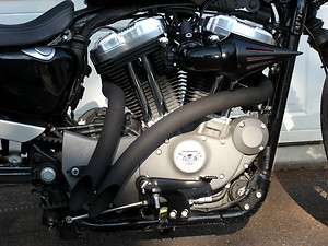 TOXIC Harley Davidson Sportster DAGGER exhaust pipes BLACK NEW HOT