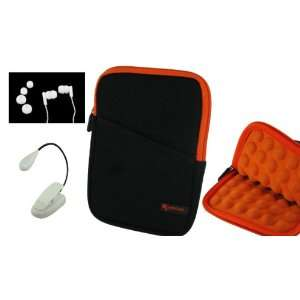 3n1 Super Bubble Neoprene Sleeve Case with LED Clip On Book Light