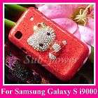 Rhinestone Hello Kitty Bling Case Cover for Samsung Galaxy S i9000 B4