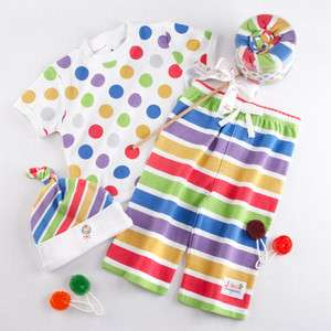 NEW Baby Boys Girls 0 3 6 month Lolly Pop Outfit Shirt Pants Hat