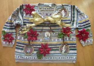 Mens Ugly CHRISTMAS Sweater Contest DOGS XL NWT 3XL NWT 4XL 4XXXXL