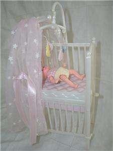 Barbie Baby Krissy & Nursery Crib Mobile Canopyl Lot