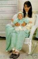 IN LEAF Baby Layette Set/Crochet Pattern