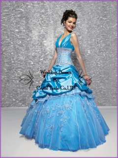 Stock Quinceanera Dresses Ball Gown Prom Wedding Bridal Formal Dress