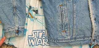 vtg Levis SHERPA LINED 80s Light BLUE DENIM Jacket L trucker jean usa