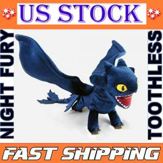 How To Train Your Dragon Night Fury Toothless Plush Dark Blue New