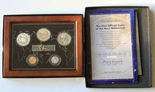 2000 KIRIBATI Millennium Platinum Gold Silver Proof Set