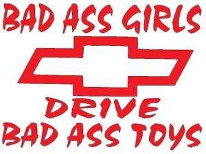 Chevrolet Chevy bad girls toys vinyl truck sticker 355