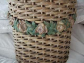 FRENCH APT CHIC ANTIQUE*BARBOLA ROSE SWAG*BASKET*SWAGS shabby chic