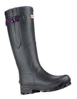Hunter Balmoral Lady Neoprene Wellington Boots   Dark Olive