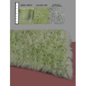 Flokati Faux Fur Rugs 2 x 8 (Celery Green) Home & Kitchen