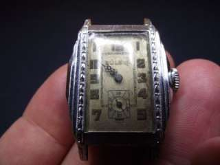 Vintage Bulova Rectangular Art Deco Mens Wrist Watch