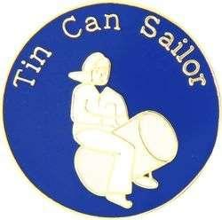 Navy TIN CAN SAILOR Hat Pin
