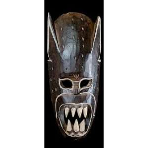 Devil Mask Hand Carved Wood from Bali, Indonesia 16 Home & Kitchen