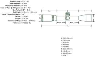 Leapers 4 16x56 SWAT MilDot RGB Illuminated Scope+ 100mm Sidewheel