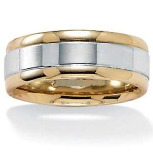 PalmBeach Jewelry 10k Yellow/White Gold Wedding Band Jewelry