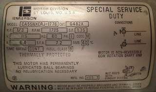 Gast Emerson Vacuum Pump Model 5BB 5 G482X/5BB5G482X Compressor