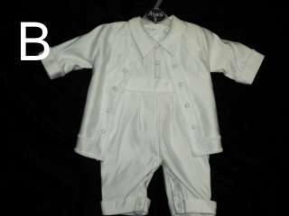 Baby Boy Baptism Christening White Suit/Outfit/ku;/ SIzES: 3M,6M,12M