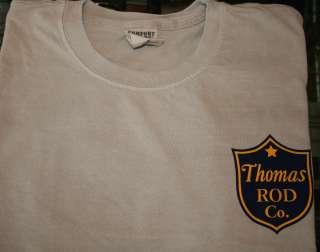 Thomas Rod Co. Logo T Shirt   X Large   Ships Free   Bamboo Rod