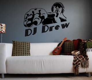 Custom Text DJ Disc Jockey Vinyl Wall Art Sticker Decal