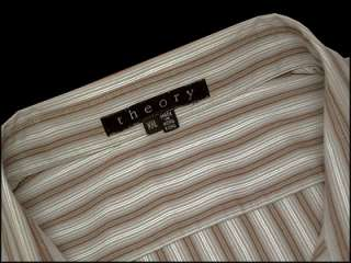 Mens Designer THEORY Striped Dress Shirt XXL 2X $225