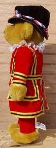 MERRYTHOUGHT Handmade BEEFEATER Stuffed Plush Bear