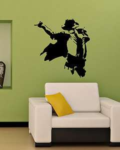 MICHAEL JACKSON MUSIC LEGEND PEOPLE WALL VINYL STICKER DECALS ART