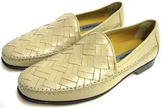 Johnston Murphy Mens Dress Shoe Khaki Leather Breland Woven Venetian