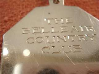 1897 Sterling Silver Watch Fob Belleair Country Club Florida 1st Golf