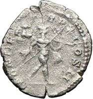Caracalla 205AD Rare Authentic Ancient Silver Roman Coin MARS WAR God