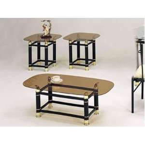Coffee/End Table Set with Smokey Glass #AC 012125: Furniture & Decor