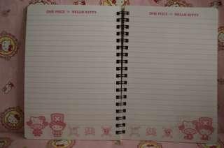 Sanrio Hello Kitty x One Piece Series Stationery Spiral Notebook