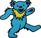 Grateful Dead Dancing Bear Blue Music 2 IN Embroidered Iron On Patch