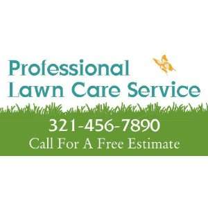 3x6 Vinyl Banner   Professional Lawn Care Service