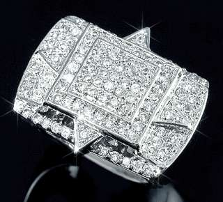 Silver Micropave CZ Iced Out Hip Hop Bling Ring Size 8 13
