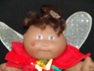 PLUSH CPK CABBAGE PATCH KIDS CHRISTMAS BLACK ANGEL DOLL