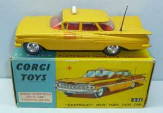 Toys 221 Chevrolet New York Taxi Cab MIB Matte Finish Shaped Wheels
