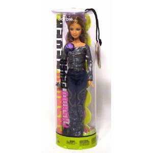 Barbie in Sequinned Blue Jeans & Black Shiny Shirt Toys & Games