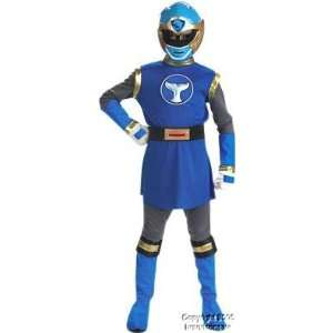 Kids Blue Power Ranger Costume (Size:Large 7 10): Toys