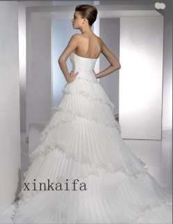 Elegant Beading New Bridal Wedding Prom Dress Gown ♥ ♥