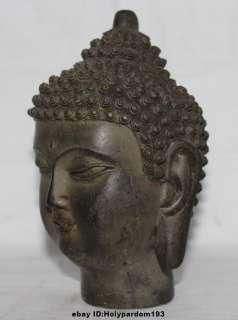 Tibet Tibetan Buddhism Bronze Buddhist Shakyamuni Buddha Head Bust