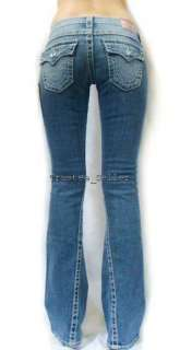 TRUE RELIGION Joey White Crystal Disco Big T Jeans NWT