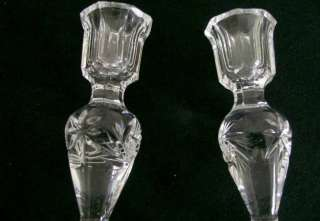 Crystal Pinwheel Candle Holders