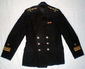 Russian Soviet Navy Officer Uniform Naval Black Jacket Original USSR