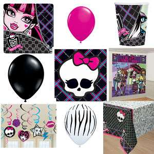 Monster High Birthday Party plate napkin cup decoration