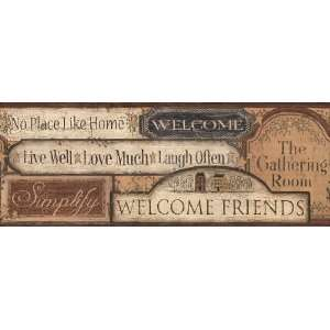 Country Signs Wallpaper Border: Home Improvement