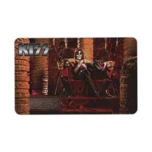 Collectible Phone Card KISS Rock & Roll Band   Peter